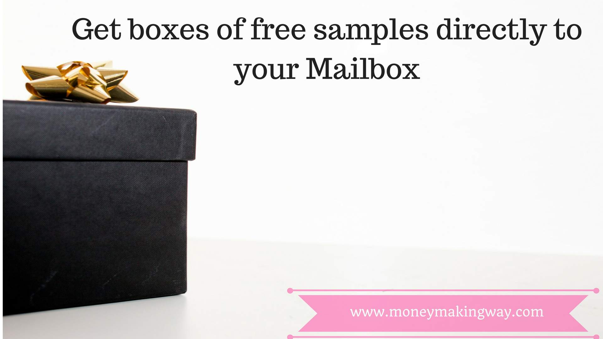 boxes of free samples