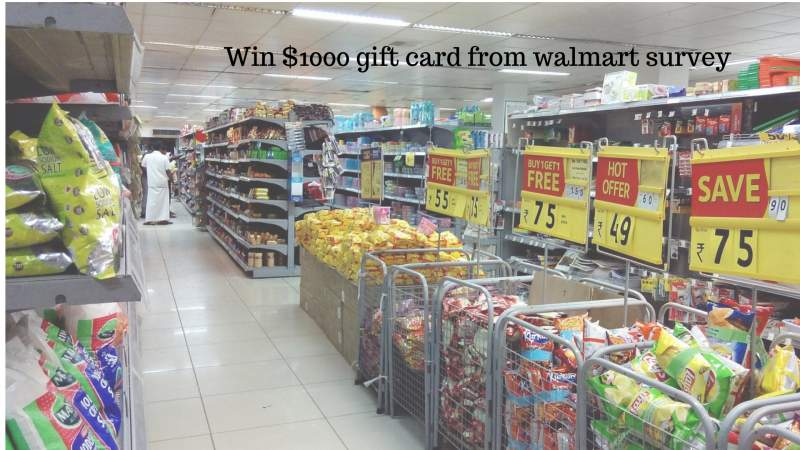 Chance to win $1000 Gift Card ! Walmart customer satisfaction survey