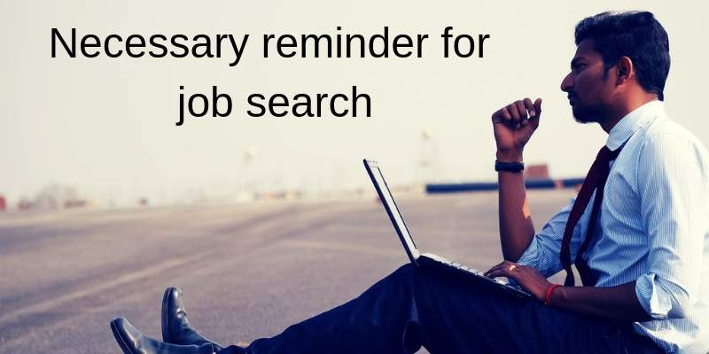 necessary reminder for job